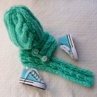 комплект Коса шапочка+шарф для куклы