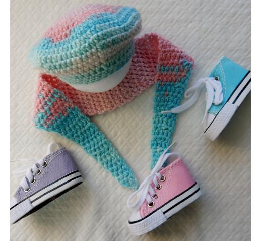 комплект Варенька беретик+шарф для куклы
